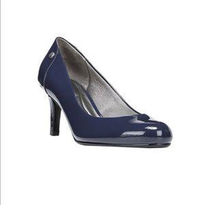 LIFE-STRIDE Lively pump navy blue suede heel - 9